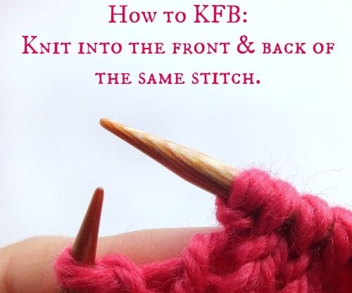 How to Knit Front & Back...an Easy Knitting Stitch!
