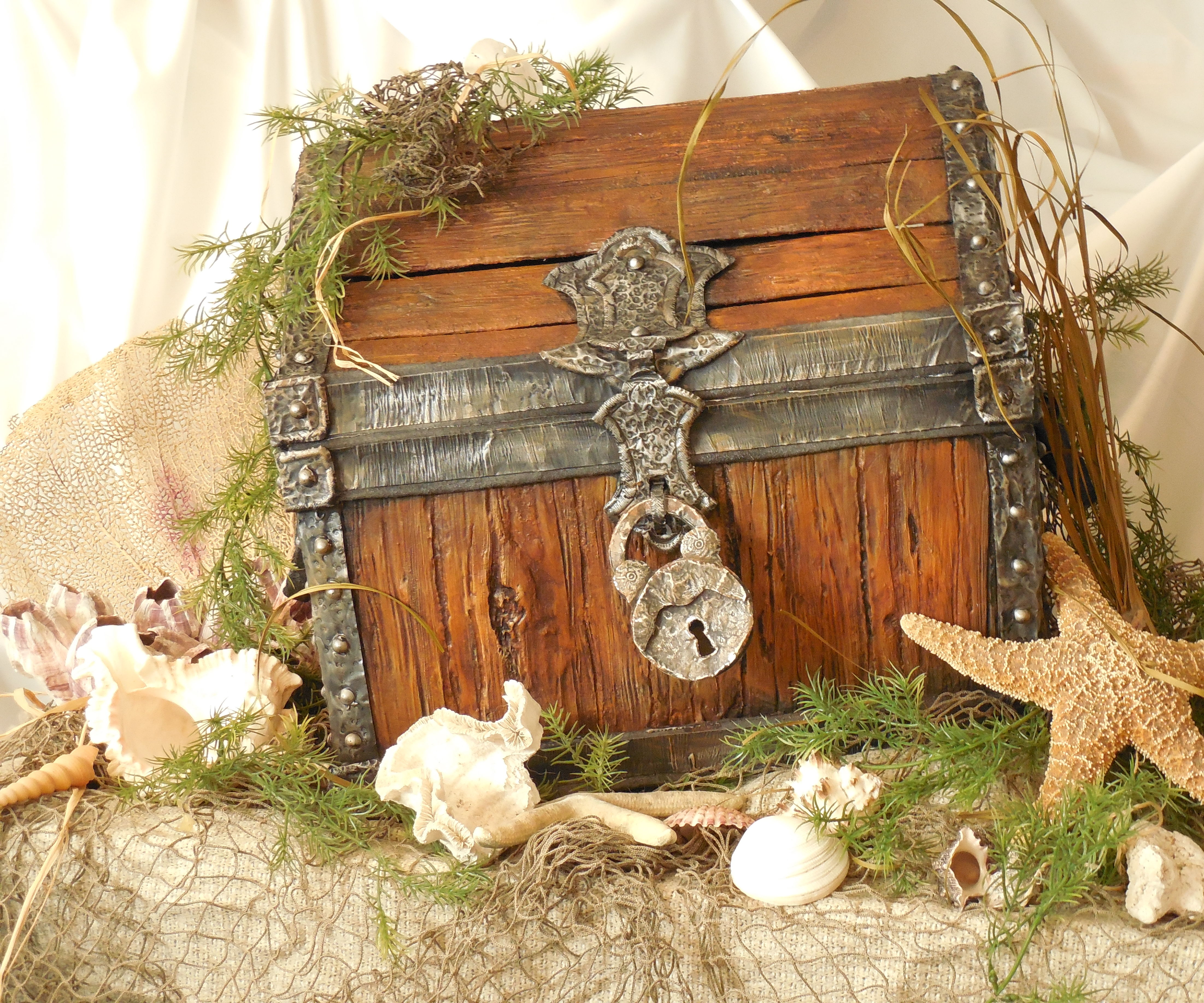 IF I COULD I WOOD ( A faux treasure chest )
