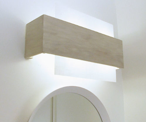 Replacing a Dated Off-center Bathroom Lighting Fixture
