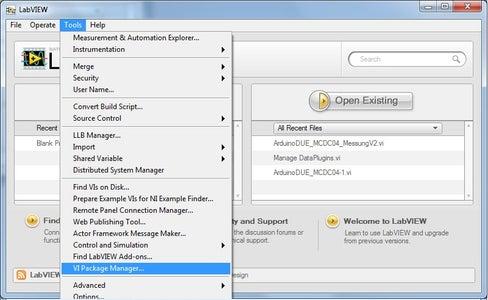 Kommunikation Zwischen Arduino Und LabVIEW - Konfiguration LabVIEW