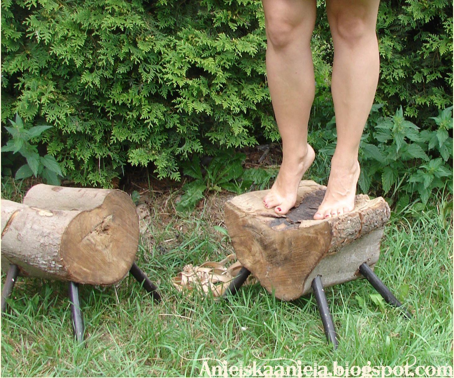 Wood Stump Stool