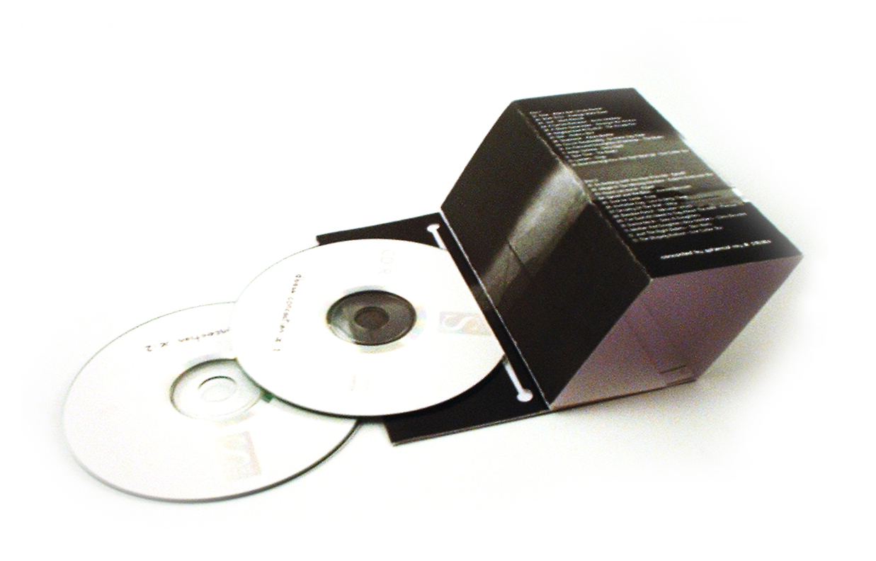Open CD Cover I: cardboard CD/DVD case