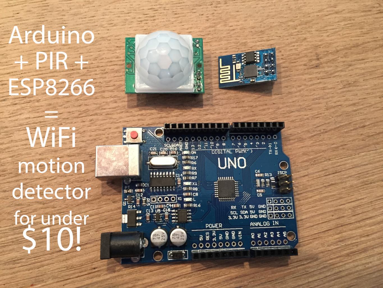 $10 Arduino WiFi Motion Detector (PIR) That Writes to SQL Via Cheap ESP8266 Module