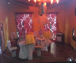 Fancy Lit Restaurant Diorama