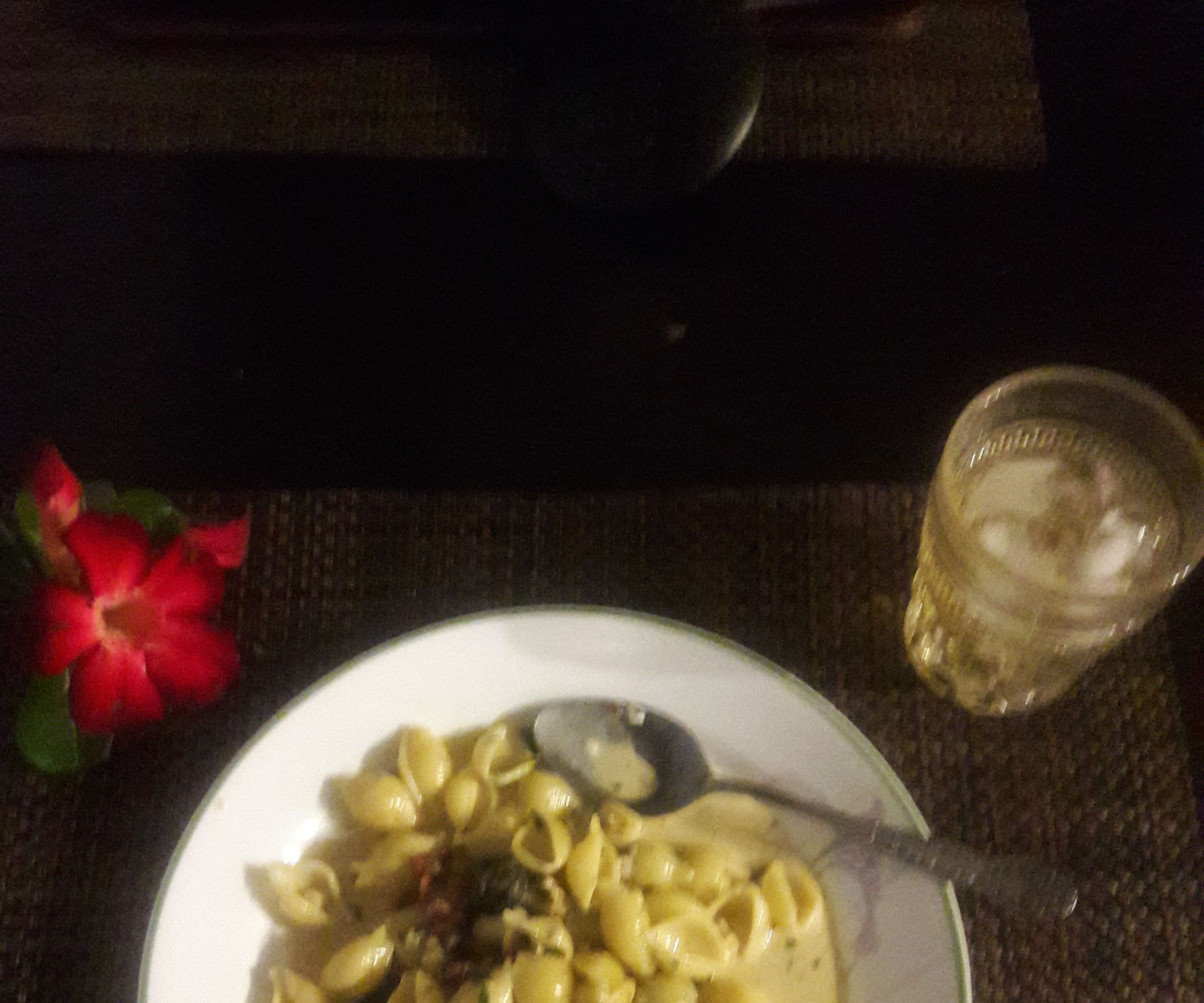 Conchigliette (Little Seashells) in Clam Carbonara Sauce