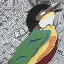 Layered Paper Indian Pitta Bird