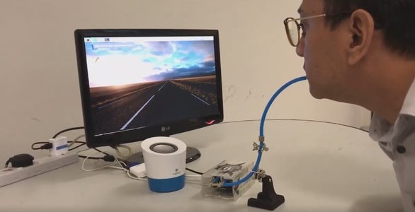 Sip & Puff Using Raspberry Pi With Google Home