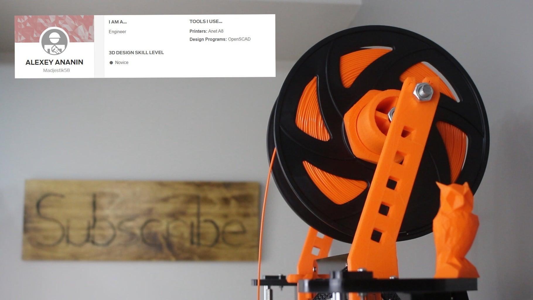 Upgrade 4: Spool Holder