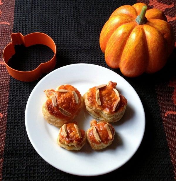 Brie Pumpkin Puffs