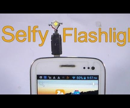 How to make a selfy flashlight at home in 2min