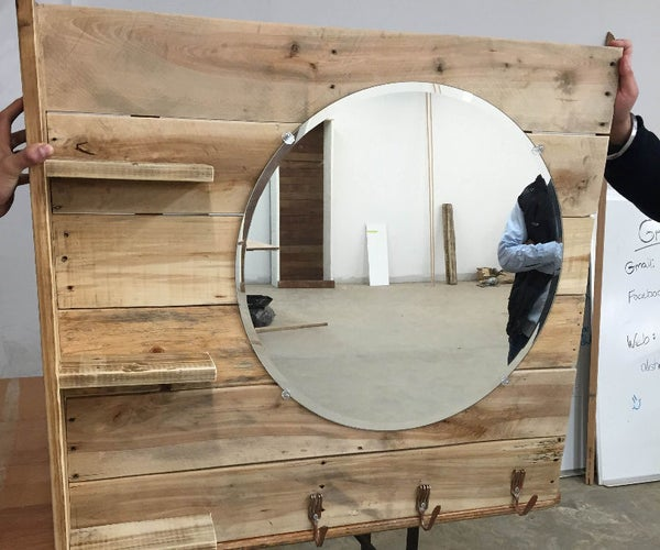 Pallet Vanity With Shelves