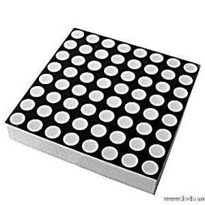 8x8 Red Dot Matrix With Arduino