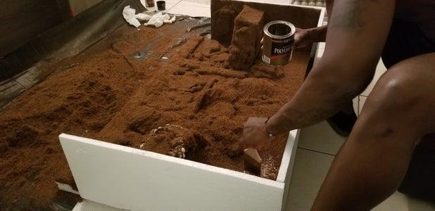 Applying the Coco Fiber to Styrofoam