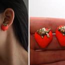Painted Shell Earrings