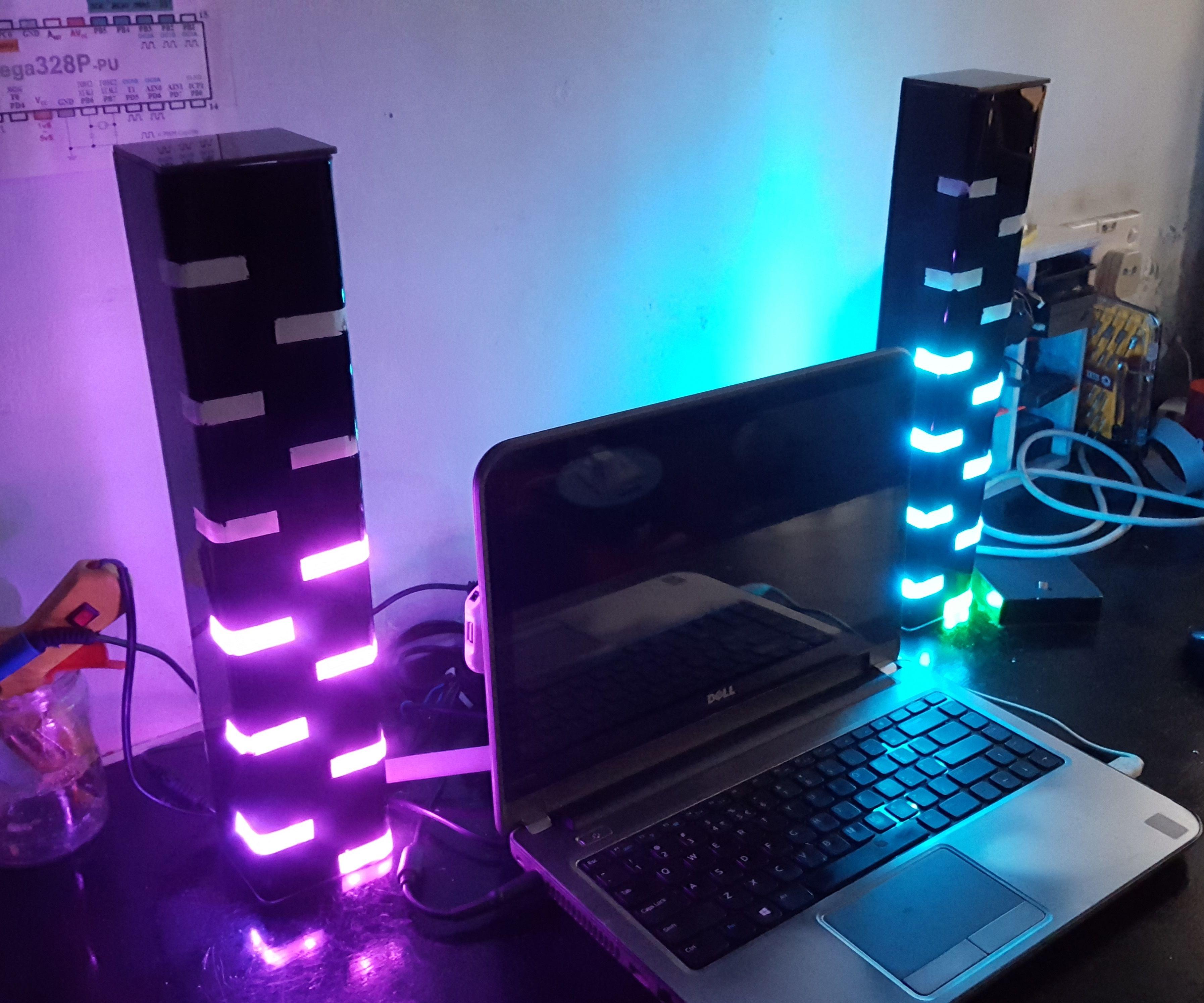 DIY LED Dual Clock Tower!