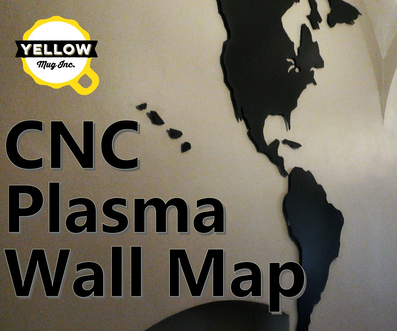 Metal French Cleat Wall Map - CNC Plasma Cut