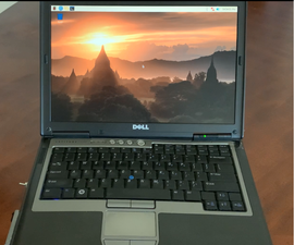 Battery Powered Raspberry Pi in Repurposed Laptop