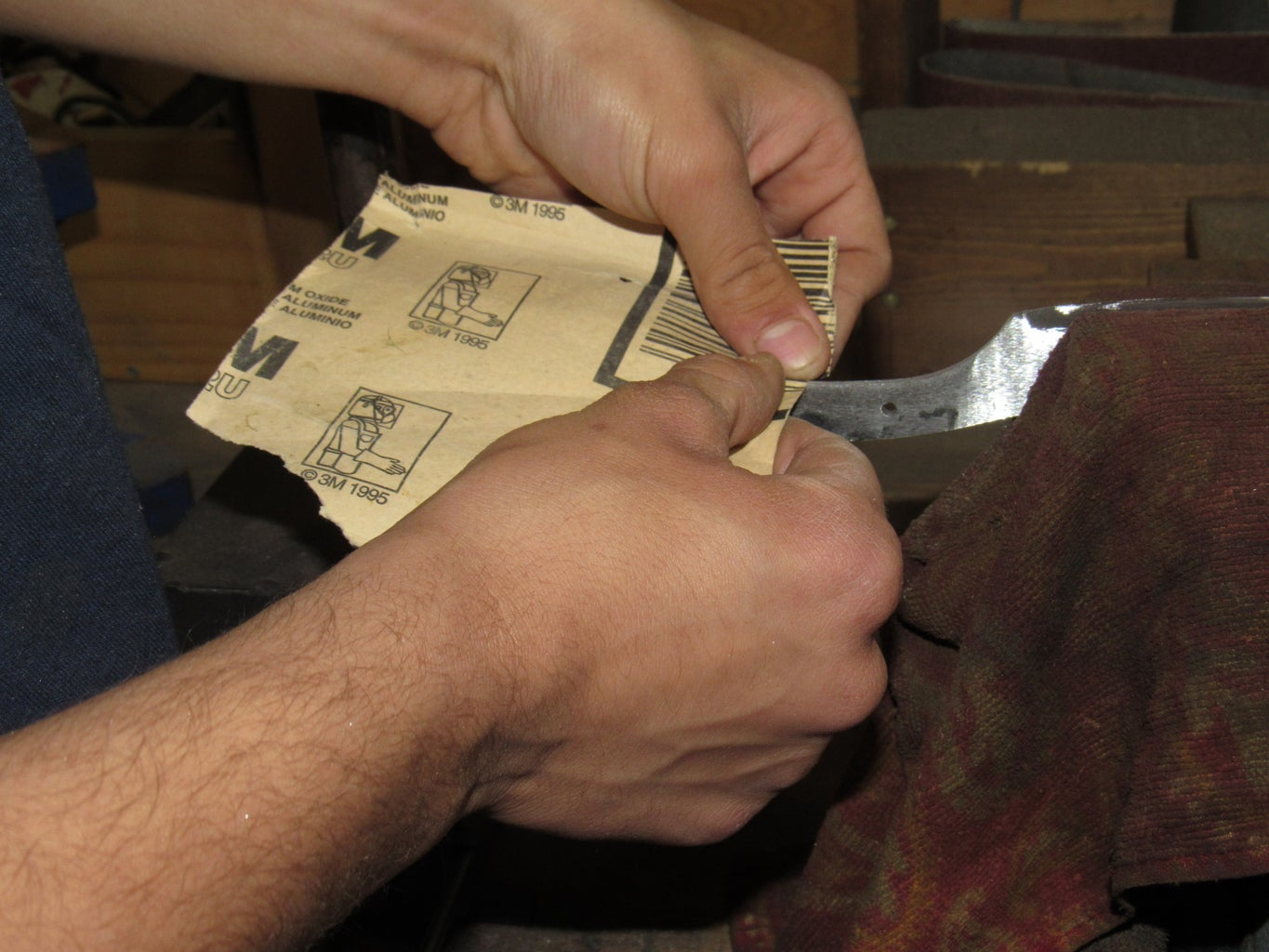 Hand Shaping the Handle