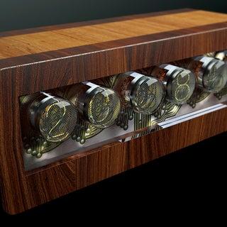 Huge Wood Nixie Clock