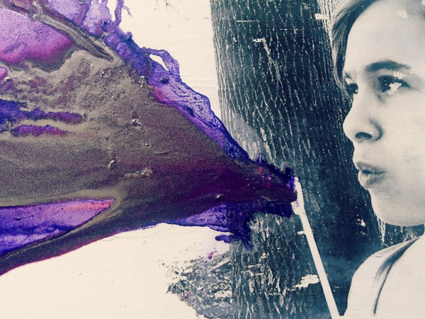 DIY Blowing Purple Crayon Art! Using FIG Purple!
