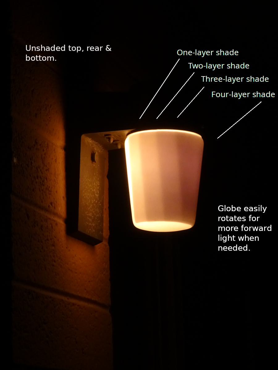 Neighbor-friendly Patio Light