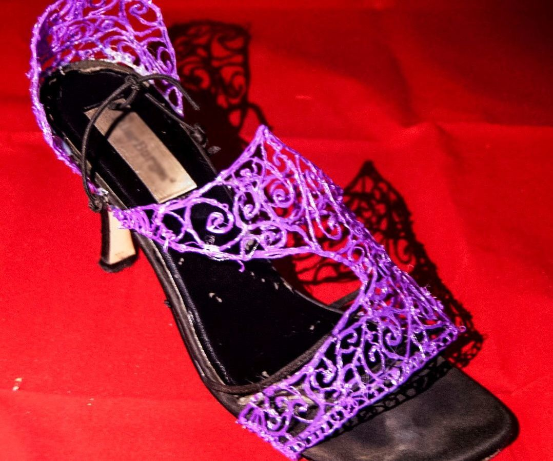 3D Doodled heeled shoes (From old ones)