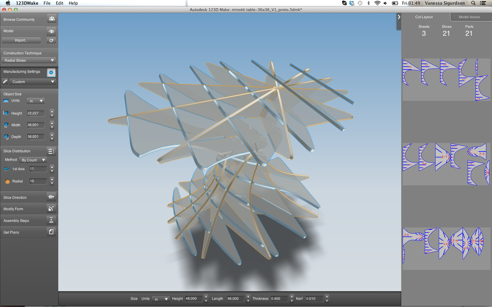 Slicing With 123D Make
