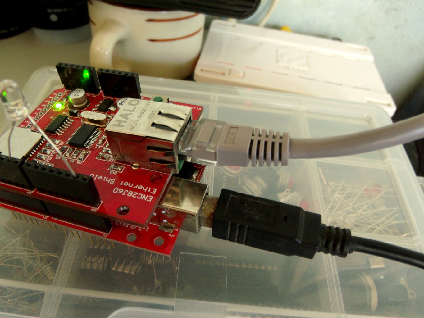 Connect Ethernet Shield to Router