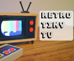 How to Make a News Station Inside a Retro Mini TV