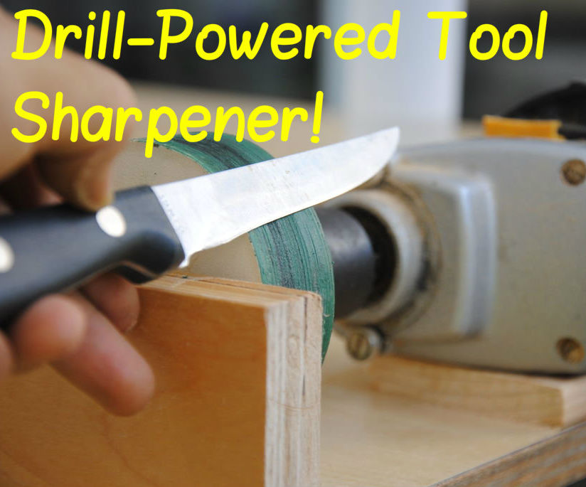 Drill-Powered Knife Sharpener! | DIY Woodworking Tools #9