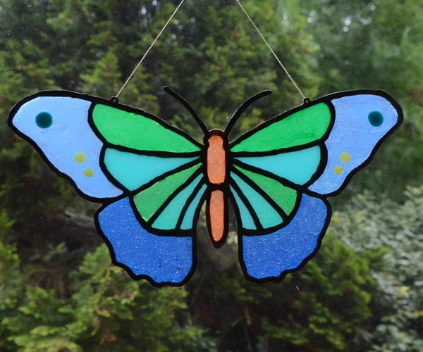 3D Printed Faux Stained Glass With Resin