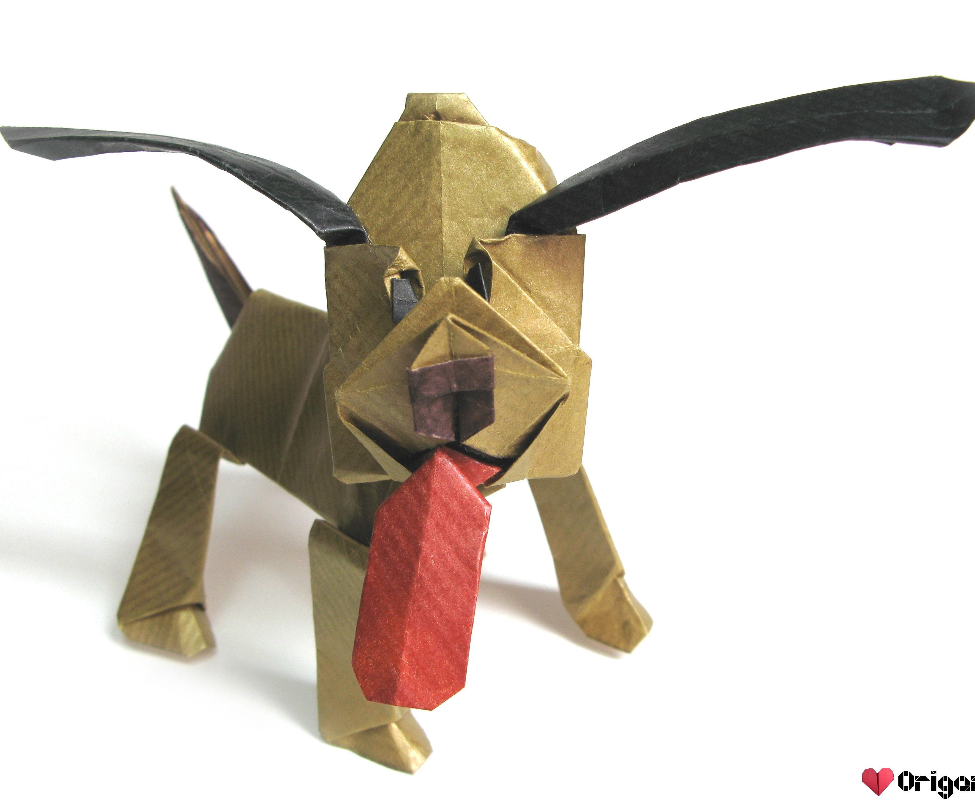 Origami Pluto the Dog
