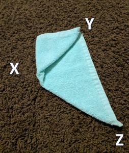 Take Corner X and Fold It to Corner Y.
