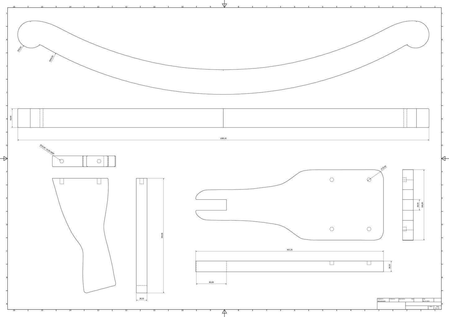 Horse Parts. Rocking Bow Seat Etc.