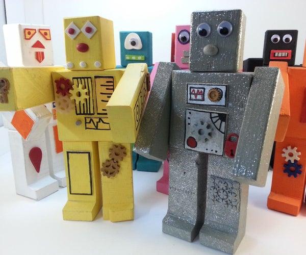 Roblocknics - Magnetic Wooden Robots