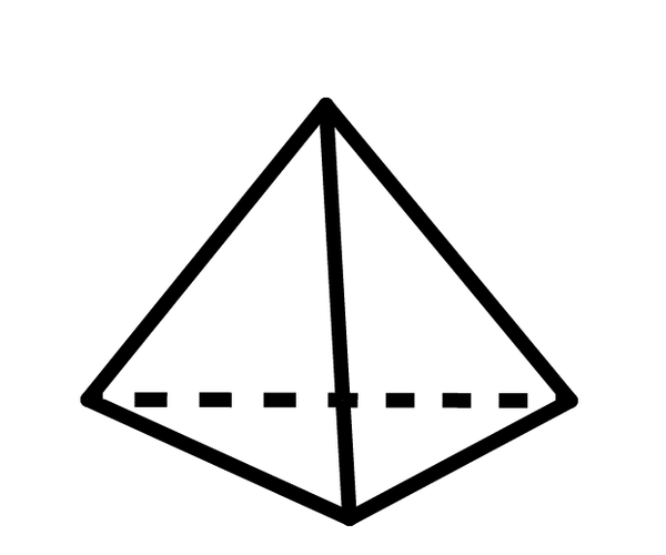 Tetrahedron LED Light