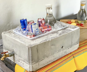 Concrete Beverage Cooler!