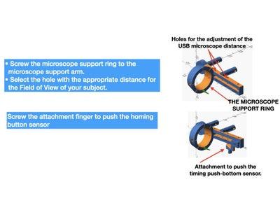 PREPARE THE MICROSCOPE SUPPORT ARM