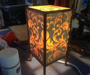 Wooden Rice Paper Lamp