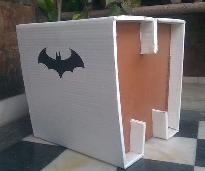 Cardboard Stool From Backyard Stuff