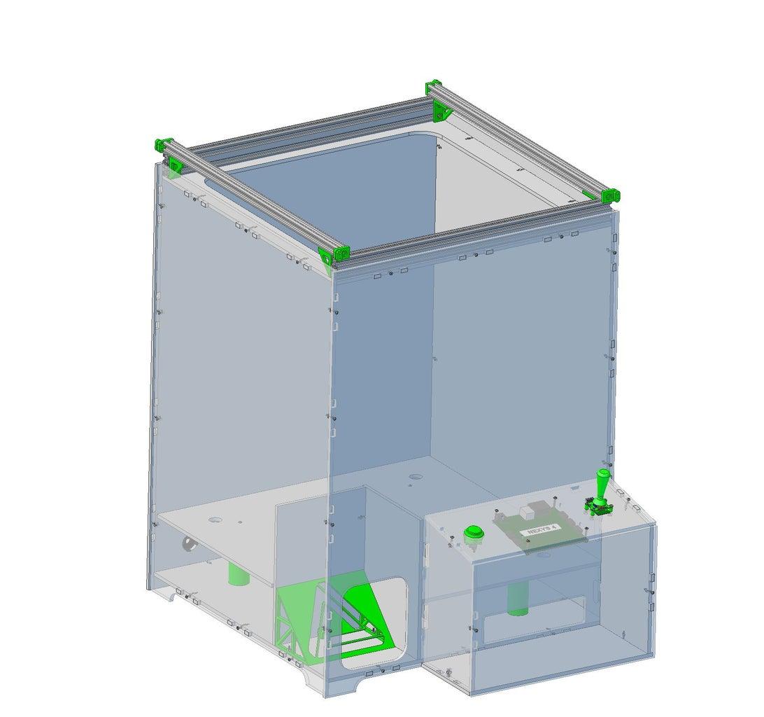 The Built Claw Machine Enclosure