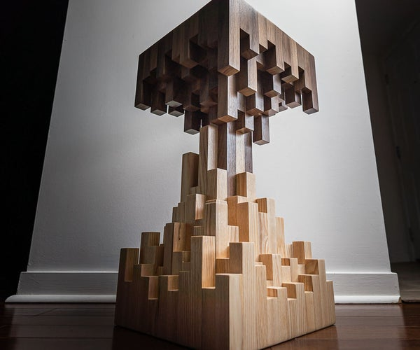 Pixelated End Table