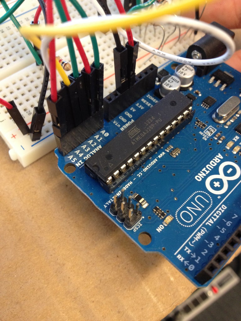 Solder the Ground Wire, Connect Everything to the Arduino.