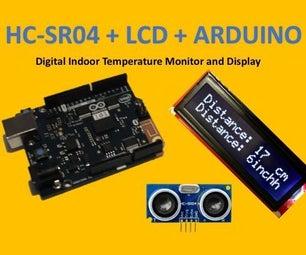 HC-SR04 + LCD + Arduino: Ultrasonic Rangefinder Display