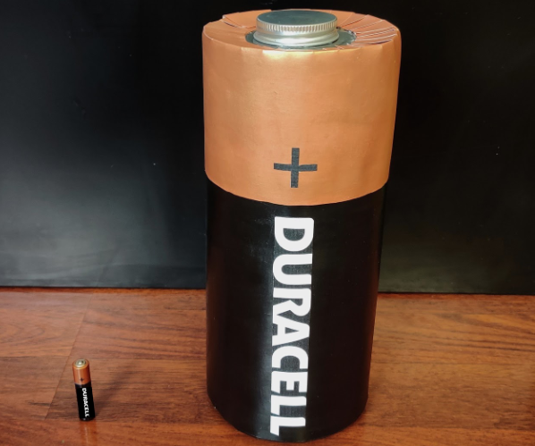 Supersized Duracell Battery