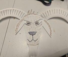 纸盘子野山羊