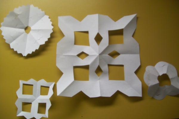 Quick and Easy Paper Snowflakes