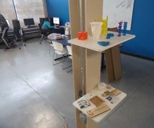 3D Printed I-Beam Display Shelf