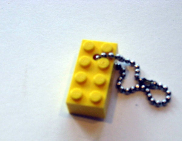 How to Make a Lego-Block Keychain
