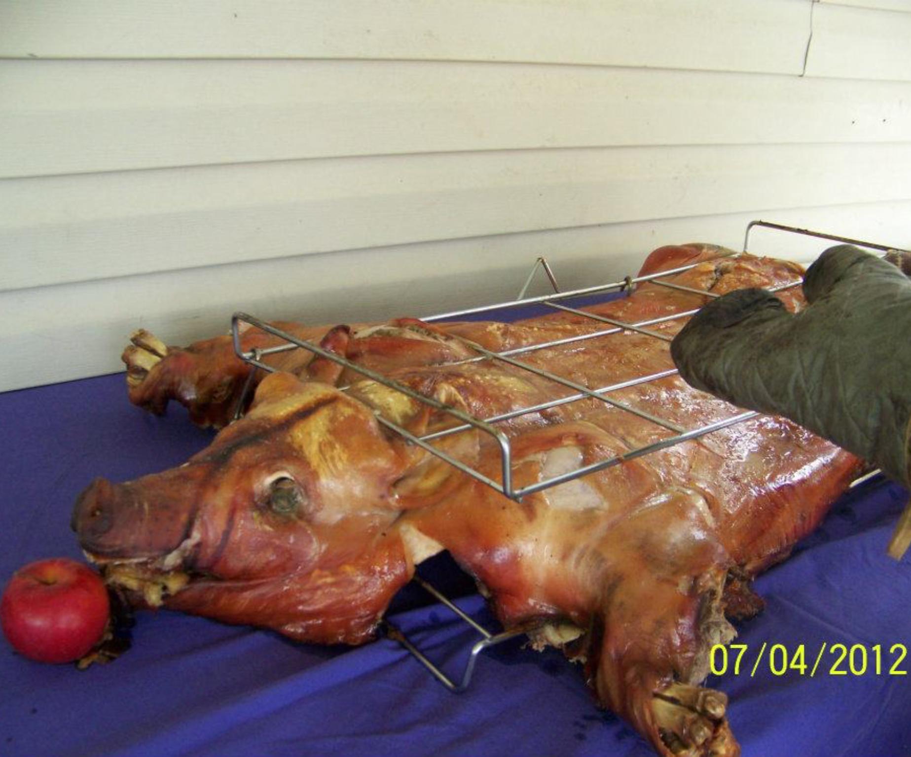 Cuban cooked hog